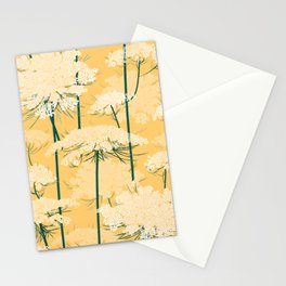 Queen Annes Lace Pattern | Yellow Stationery Cards