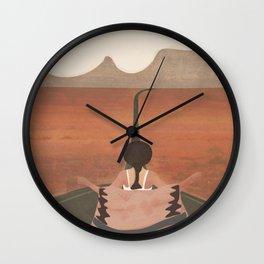 Through the Desert Highway II Wall Clock