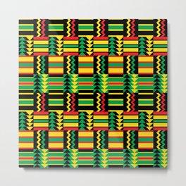 African Zig-Zag Metal Print