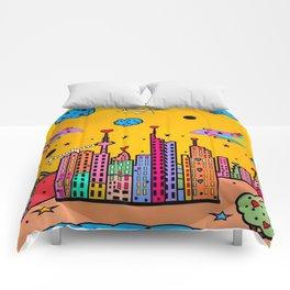 Frankfurt Popart by Nico Bielow Comforters