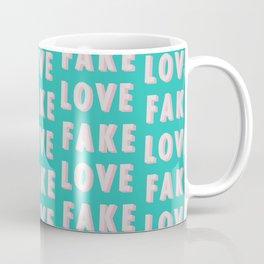 Fake Love - Typography Coffee Mug