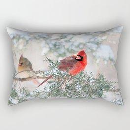 Remembering.... (Northern Cardinals) Rectangular Pillow