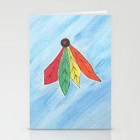 blackhawks Stationery Cards featuring Feathers by Smash Art