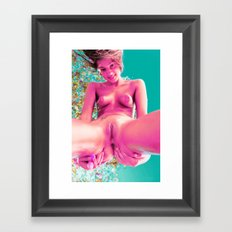 Like a Fat Kid Eating Cake. Hot Sexy Nude Beautiful Body Framed Art Print