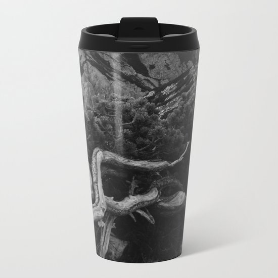 Mountain Pine Root Octopus Metal Travel Mug