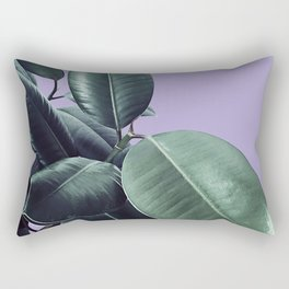 Ficus Elastica #19 #Lavender #foliage #decor #art #society6 Rectangular Pillow