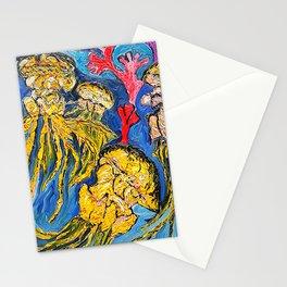 Jelly Fish    Oil Painting   #society6   #decor  #buyart Stationery Cards