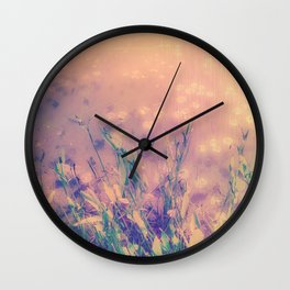 Lotus Pond and Spring Sunshine Wall Clock
