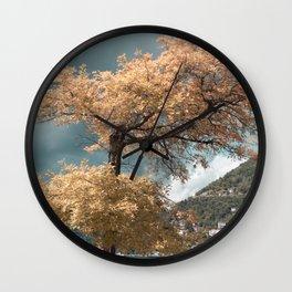 Lake Como tree Wall Clock