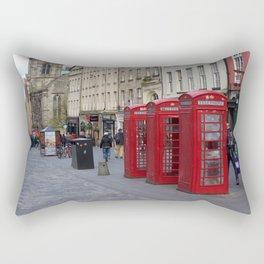 Telephone Booths Royal Mile Edinburgh Rectangular Pillow