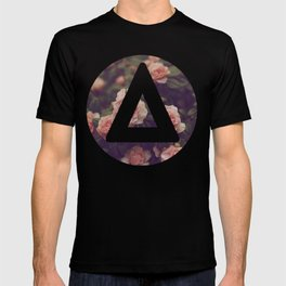 Bastille floral triangle round T-shirt
