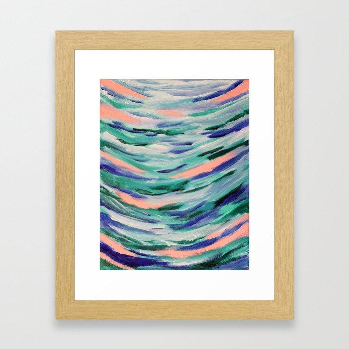 A Touch of Peach Framed Art Print