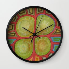 Pituresque Painting within Bizarre Form Wall Clock