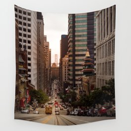 Lingering in San Francisco Wall Tapestry