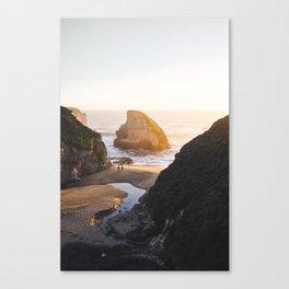 Shark Fin Cove -  Davenport, CA Canvas Print