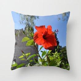 Flower at Kolossi (Limassol, Cyprus) Throw Pillow