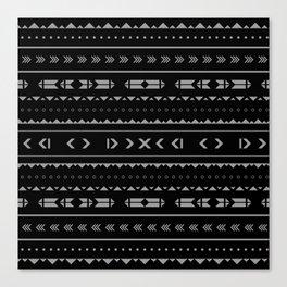 B&W Aztec Canvas Print