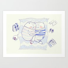 l'amour cat Art Print