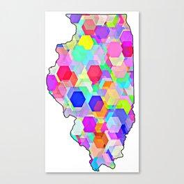 Illinois Abstract Canvas Print