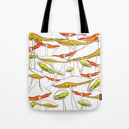 forest of the magic mushrooms Tote Bag