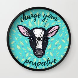 Change Your Perspective White Blaze Wall Clock