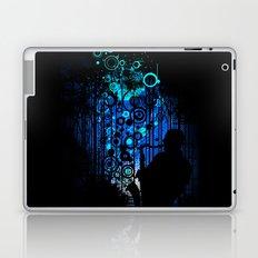 In the Keynote of Blue Laptop & iPad Skin
