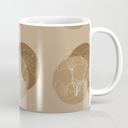 Ginkgo Leaves in Earthy Color Palette Coffee Mug