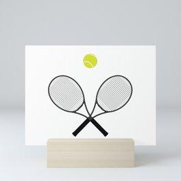 Tennis Racket And Ball 2 Mini Art Print