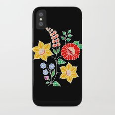Hungarian placement print - black Slim Case iPhone X
