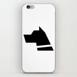 Hound Dog Head Silhouette Icon iPhone Skin