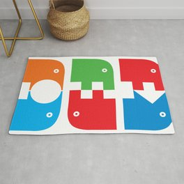 Graphical beasts1 Rug