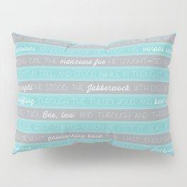 Jabberwocky - Aqua Pillow Sham