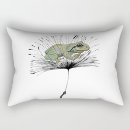 Frog in Seed Rectangular Pillow