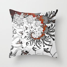 Earth Form Spiral Throw Pillow