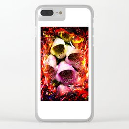 Abstract Perfection - Bellflower Clear iPhone Case