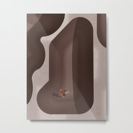 Venice Beach Skatepark | Aerial Illustration  Metal Print