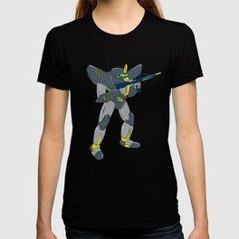 Mecha Robot Holding Ray Gun Isolated T-shirt