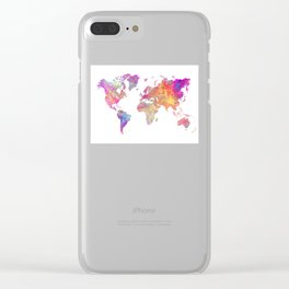 Map of the world #map #world Clear iPhone Case