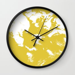 Suminagashi 2 gold marble spilled ink ocean swirl watercolor painting marbled pattern Wall Clock