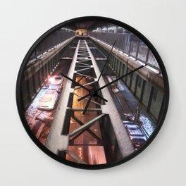 Street view from subway platform Wall Clock