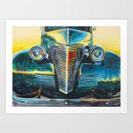 '38 Chevrolet Master Deluxe (Green roadster) Art Print