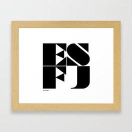 Type Type for ESFJ Framed Art Print