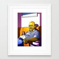 homer Framed Art Prints featuring Depressed Homer by Adrien ADN Noterdaem