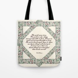 Whitman and the world Tote Bag
