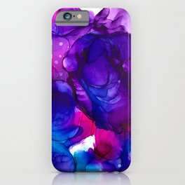 Nebula explosion (alcohol ink abstract) iPhone Case