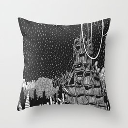 Botanical Doodle 2/3 Throw Pillow
