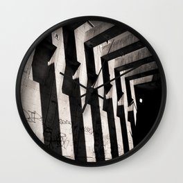 concrete stripes Wall Clock