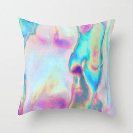 Iridescence - Rainbow Abstract Throw Pillow
