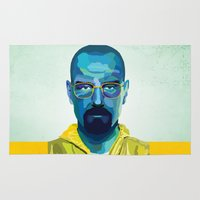 heisenberg Area & Throw Rugs featuring Heisenberg by Ned & Ems