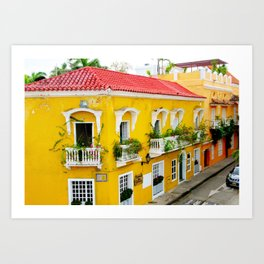 City of Cartagena Art Print